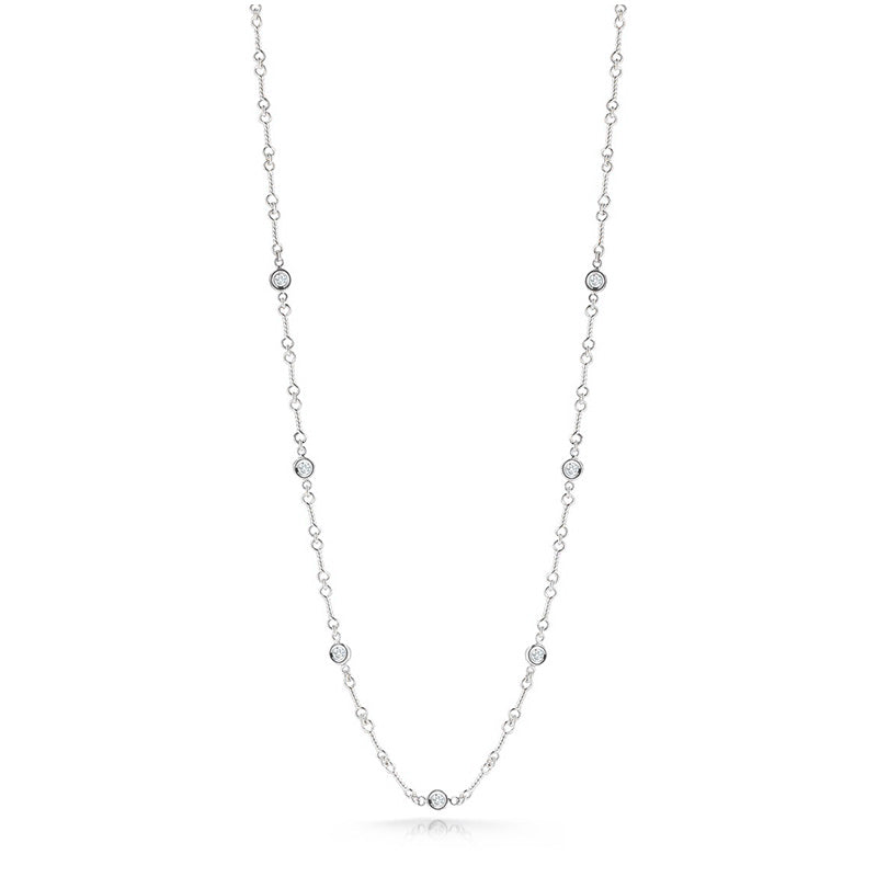 Roberto Coin Diamonds by the Inch 18K White Gold Necklace