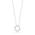 Load image into Gallery viewer, Roberto Coin Tiny Treasures Small White Gold and Diamond Circle Pendant