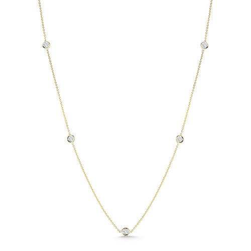 Roberto Coin Diamonds by the Inch 5-Station Necklace