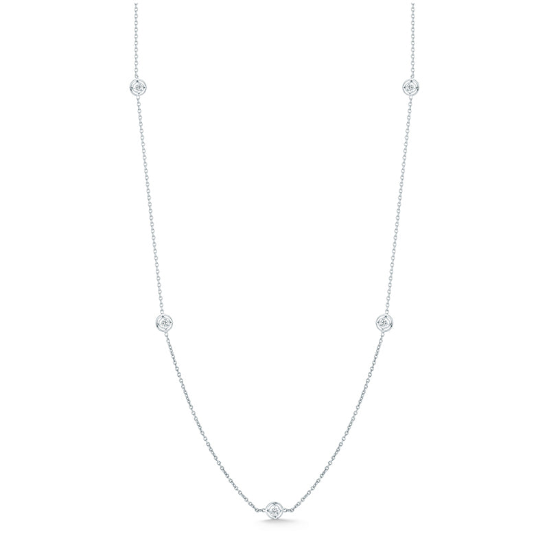 Roberto Coin Diamonds by the Inch 7 Diamond Station Necklace