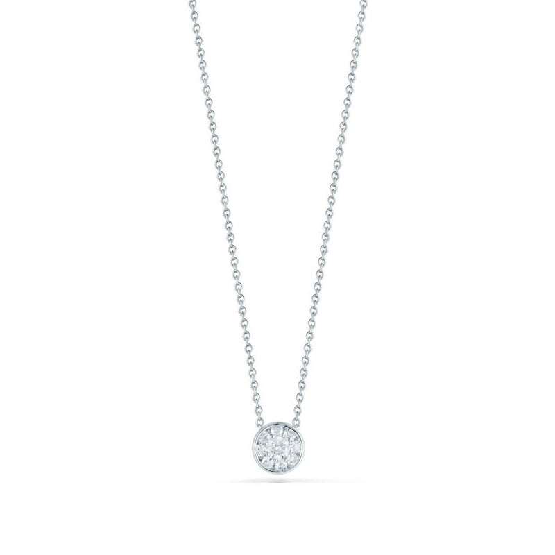 Roberto Coin Tiny Treasures Classic Diamond Small Cluster Pendant Necklace