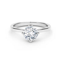 Forevermark Setting 18K White Gold Solitaire Engagement Ring