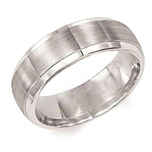 Fink's Men's 6.5mm Rolled Edge Brushed Wedding Band