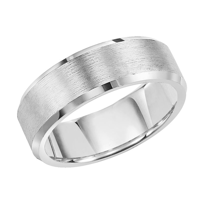 Fink's Men's 8mm Grey Tungsten Carbide Comfort Fit Wedding Band