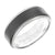 Load image into Gallery viewer, Triton RAW Men's 8mm 18K White Gold and Grey PVD Tungsten Step Edge Wedding Band