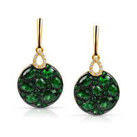 Marco Moore 14K Yellow Gold Tsavorite and Diamond Dangle Earrings