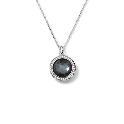 IPPOLITA Lollipop® Sterling Silver Pendant Necklace with Diamonds in Hematite