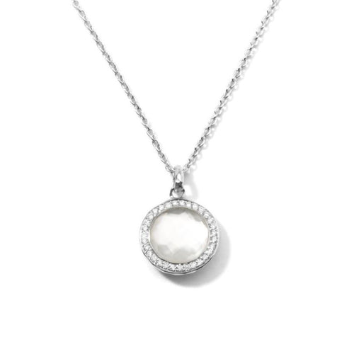 IPPOLITA Lollipop® Sterling Silver Pendant Necklace with Diamonds in Mother-of-Pearl