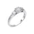 Load image into Gallery viewer, Fink's Exclusive .33ct Round Cut Engagement Ring with Halo and Princess Cut Diamonds on Shank