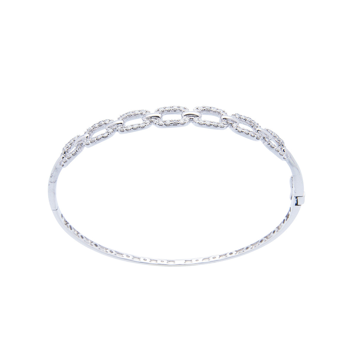 White Gold Bracelet with Diamond Accents