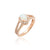 Load image into Gallery viewer, Sabel Collection 14K Rose Gold Oval Opal and Diamond Split Shank Ring