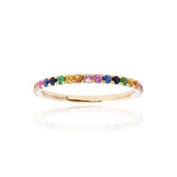 Sabel Collection 14K Yellow Gold Rainbow Sapphire Stacking Ring