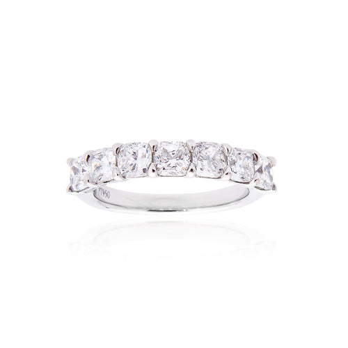 Fink's Platinum Cushion Cut Diamond Wedding Band