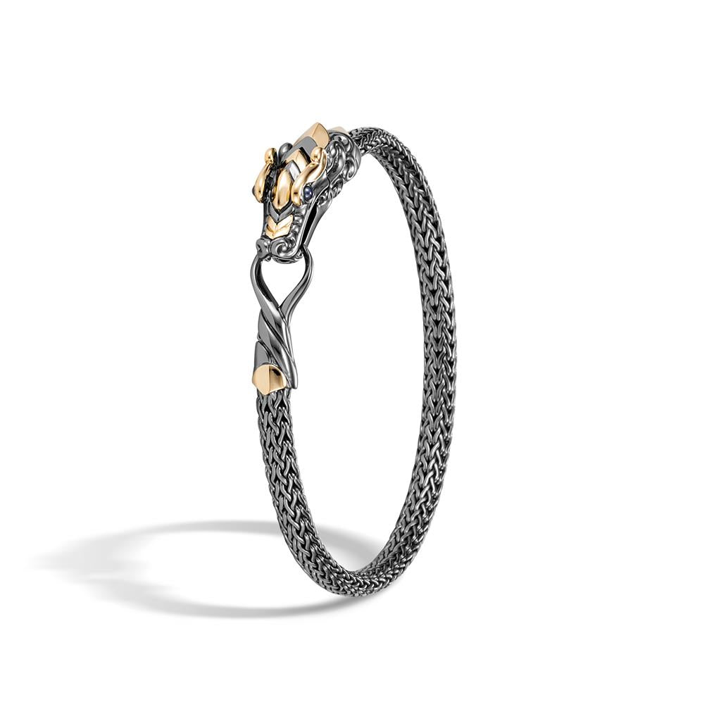 John Hardy Legends Black Rhodium Plated Sterling Silver and 18K Yellow Gold Naga Bracelet