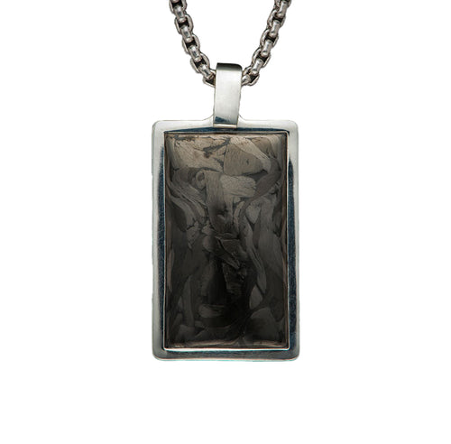 "William Henry P43 CF ""Carbon Pinnacle"" Dog Tag Pendant"