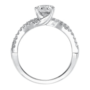 Fink's Exclusive Round Diamond Twist Shank Engagement Ring