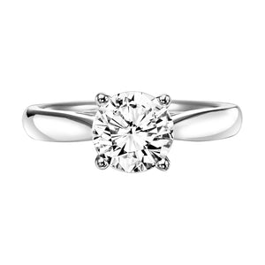 Fink's Exclusive Diamond Solitaire Four Prong Engagement Ring