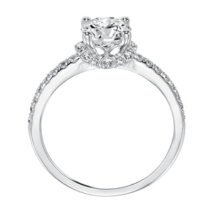 Fink's Exclusive Round Diamond and Diamond Shank Engagement Ring