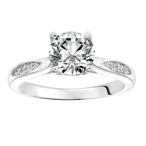 Fink's Exclusive Round Diamond and Cutout Diamond Shank Engagement Ring