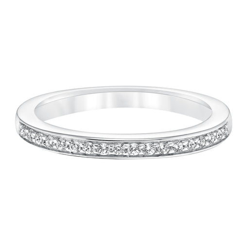 Fink's 14K White Gold Round Diamond Prong Wedding Band