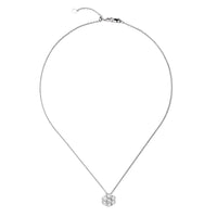 Sabel Collection 18K White Gold Diamond Cluster Pendant Necklace