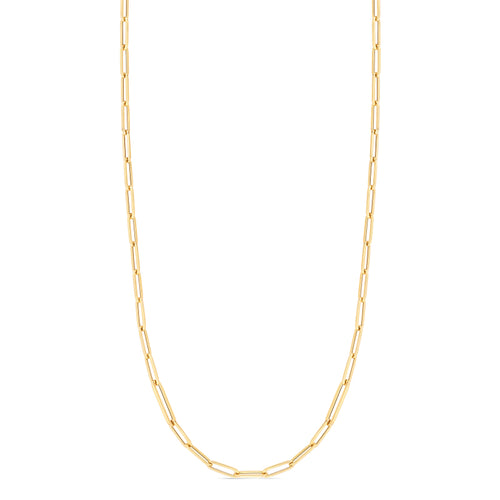 Roberto Coin Designer Gold 18K Yellow Gold Alternating Size Paperclip Link Chain