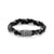 Load image into Gallery viewer, John Hardy Men's Classic Chain Silver and Black Leather Braided Bracelet