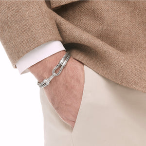 John Hardy Men's Classic Chain Hook Station Bracelet