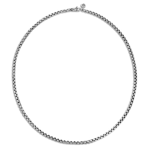 John Hardy Naga Sterling Silver Box Chain Necklace with Lobster Clasp