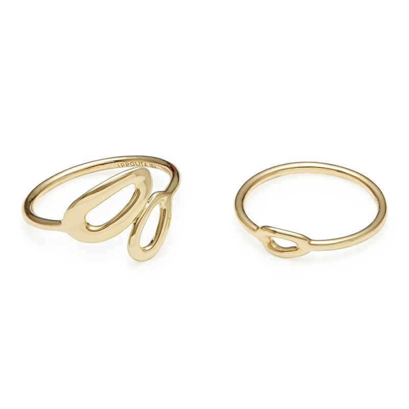 IPPOLITA Cherish 18K Yellow Gold Midi Ring Set