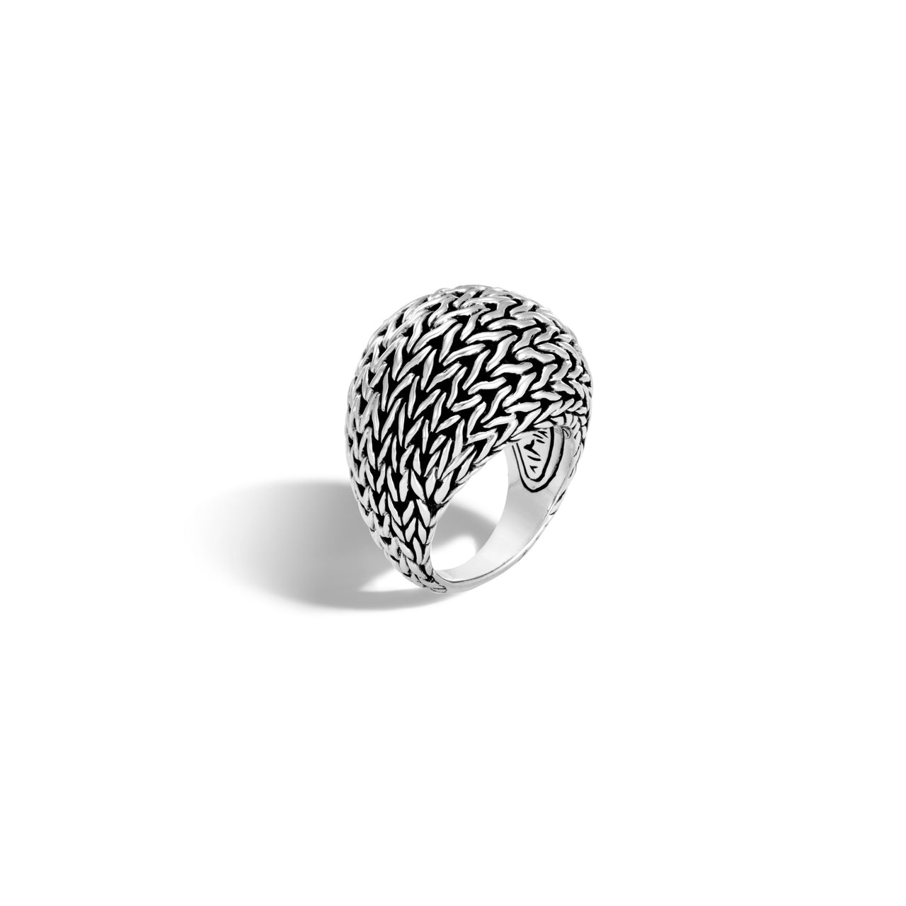 John Hardy Classic Chain Sterling Silver Graduated Dome Ring