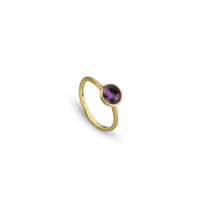 Marco Bicego Jaipur Color 18K Yellow Gold Amethyst Stack Ring