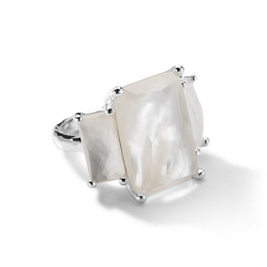 IPPOLITA Rock Candy® Sterling Silver Clear Quartz and Mother-of-Pearl Ring