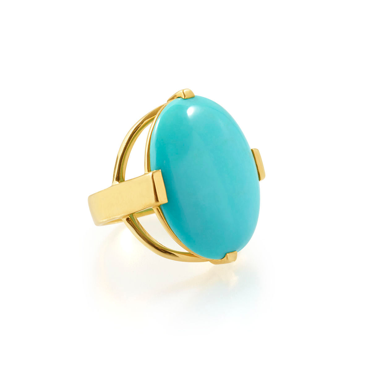 IPPOLITA Rock Candy® 18K Yellow Gold Polished Large Oval Ring in Turquoise