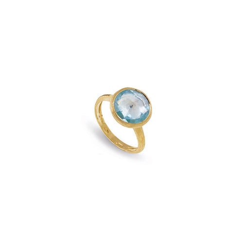 Marco Bicego Jaipur 18K Yellow Gold Blue Topaz Ring