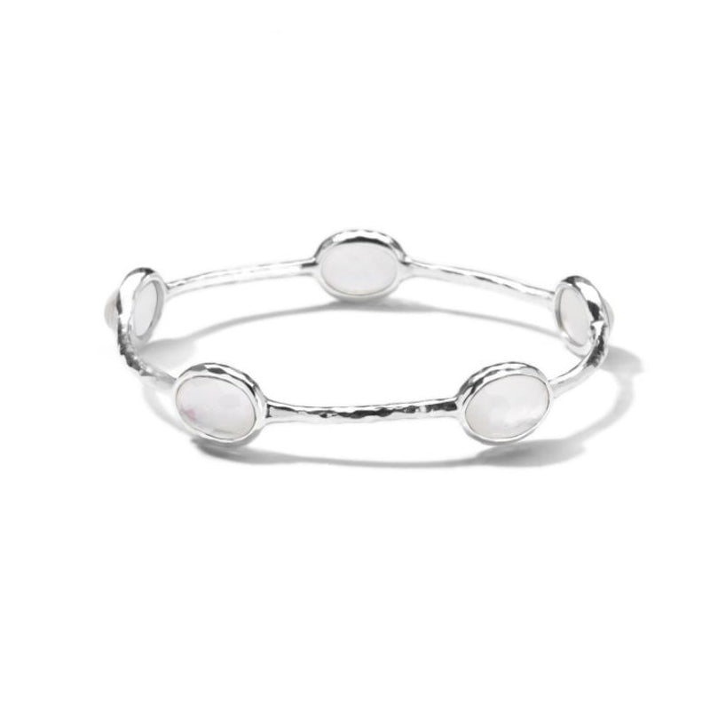 IPPOLITA Wonderland Sterling Silver 5-Stone Bangle in Mother-of-Pearl