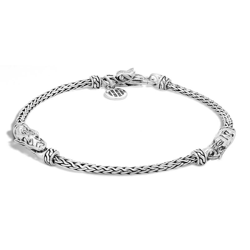 John Hardy Legends Naga Triple Station Dragon Head Bracelet