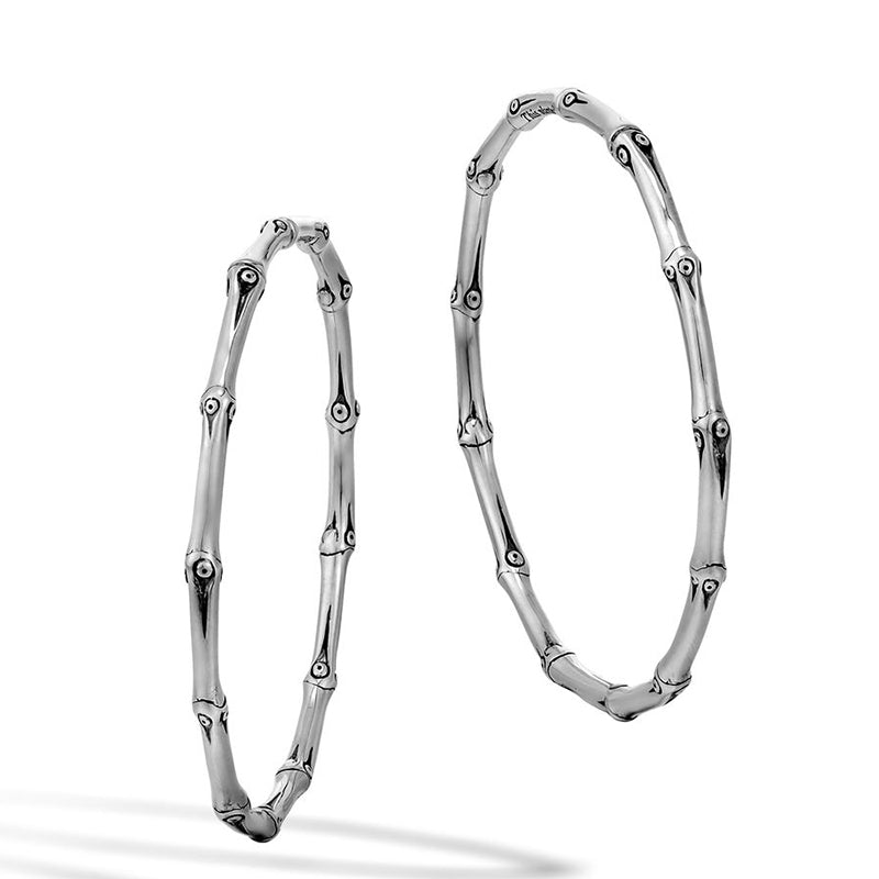 John Hardy Bamboo Large Hoop Earrings