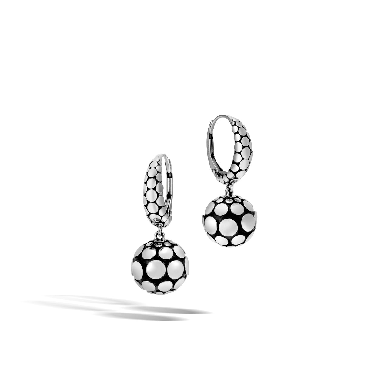 John Hardy Dot Sterling Silver Leverback Drop Earrings