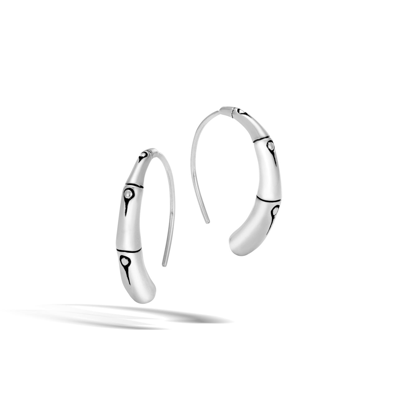 John Hardy Bamboo Sterling Silver Small Half Hoop Earrings