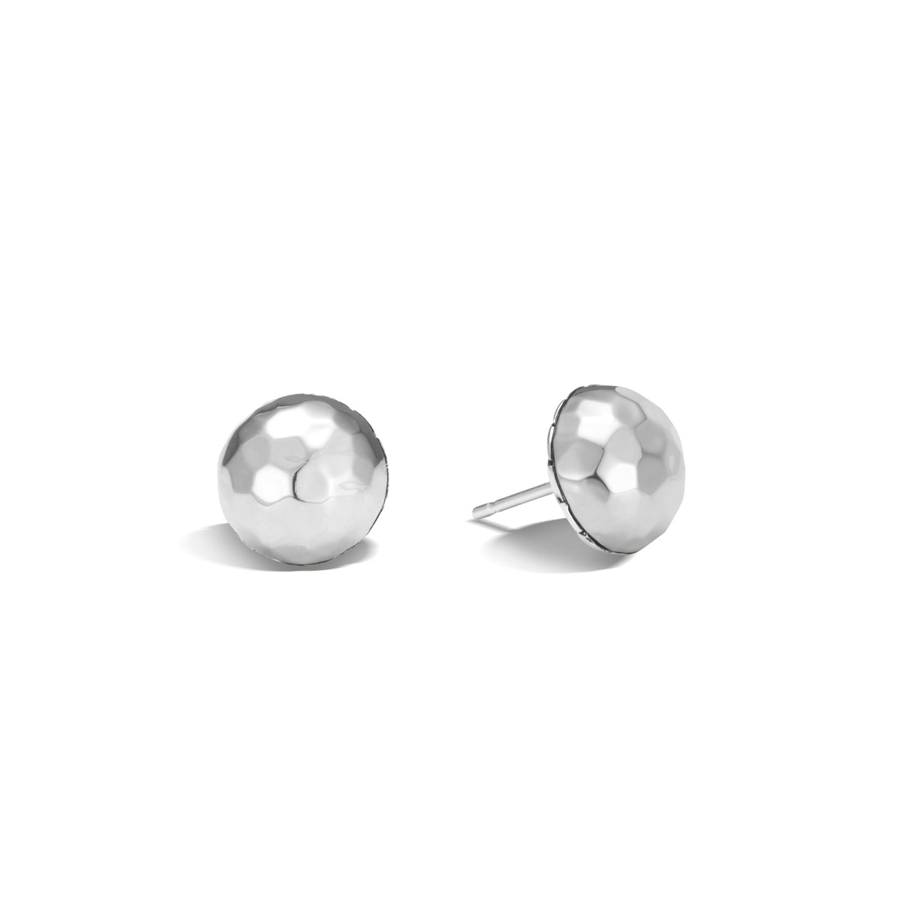 John Hardy Classic Chain Hammered Sterling Silver Stud Earrings