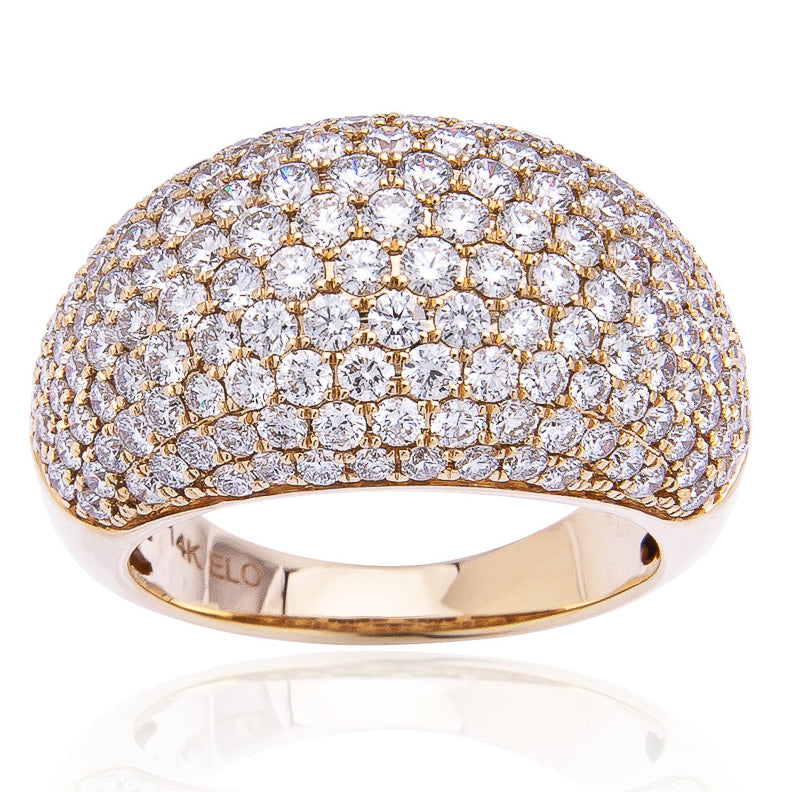 Sabel Collection 14K Yellow Gold Diamond Pave Dome Ring