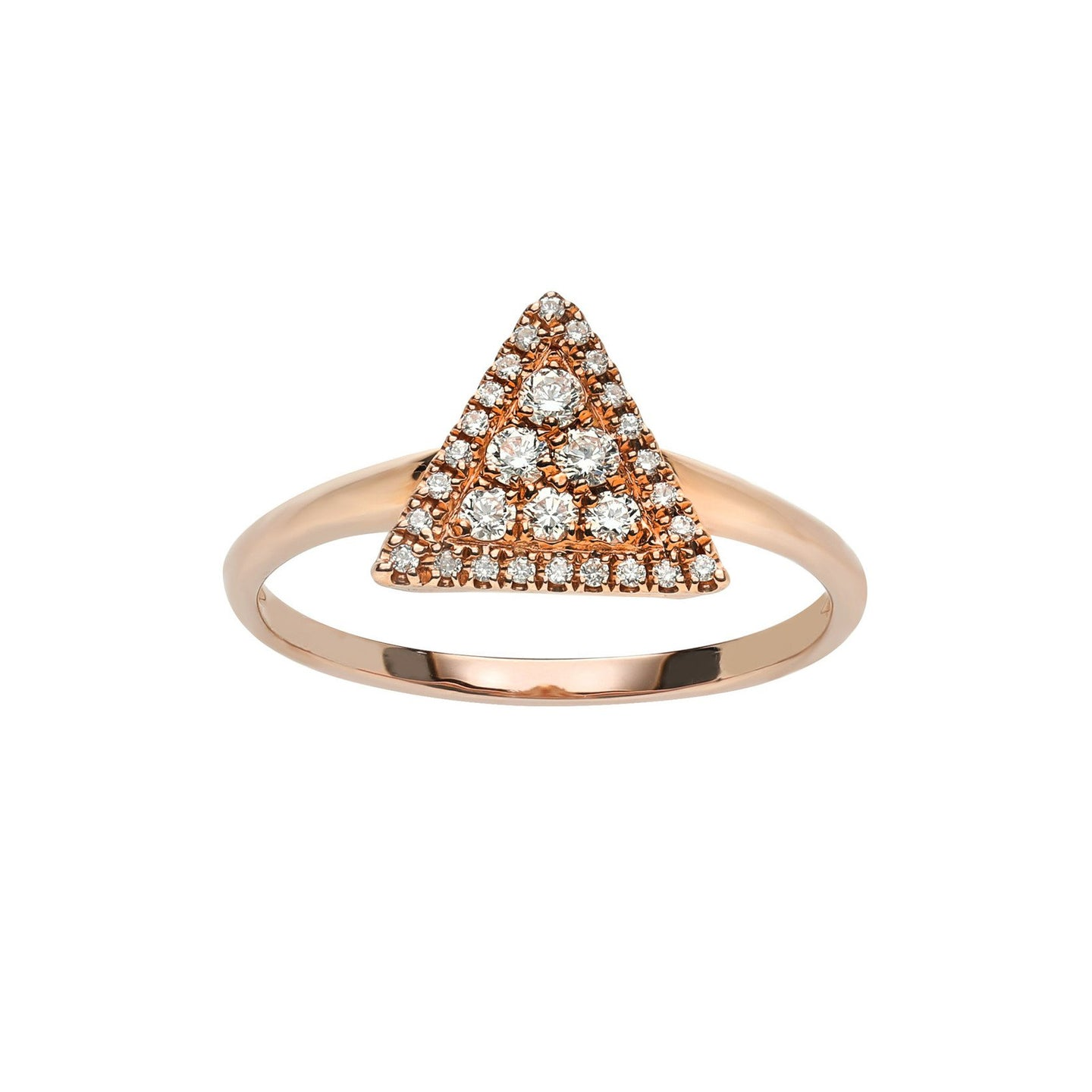 Marco Moore 14K Rose Gold Diamond Triangle Ring