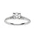 Load image into Gallery viewer, Fink's 14K White Gold Round Diamond Center Stone Split Shank Engagement Ring