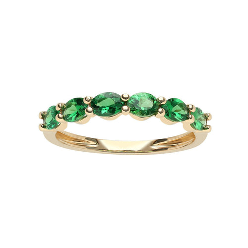 Marco Moore 18K Yellow Gold Oval Green Garnet Ring