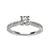 Load image into Gallery viewer, Fink's 14K White Gold Round Diamond Shank Accent Engagement Ring