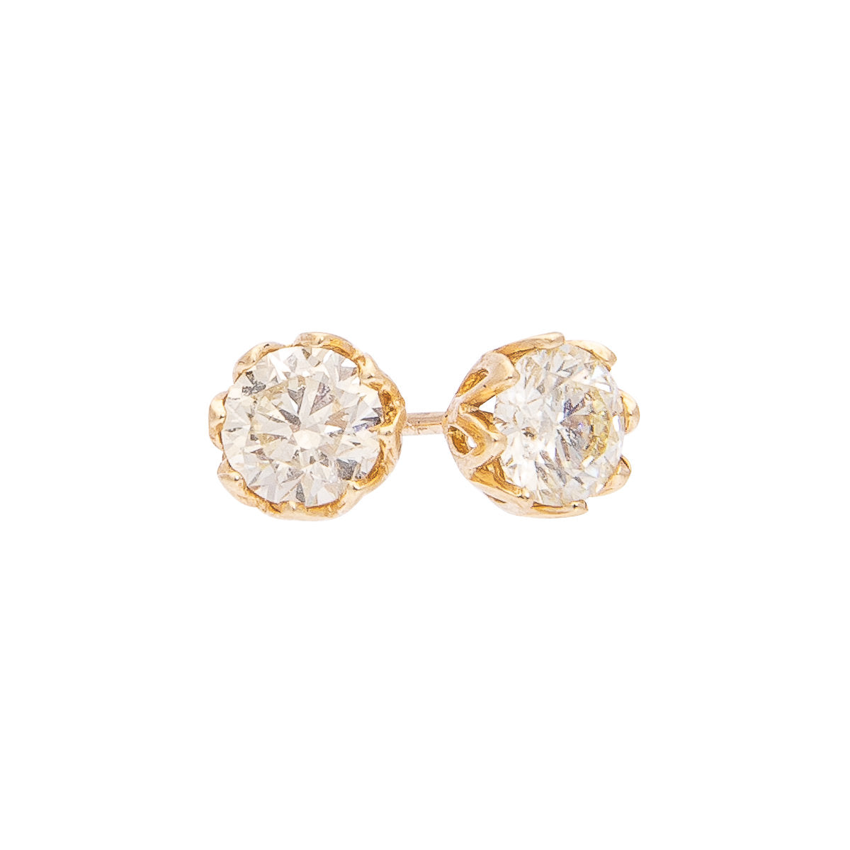 Sabel Collection 14K Yellow Gold Fancy Color Diamond Stud Earrings