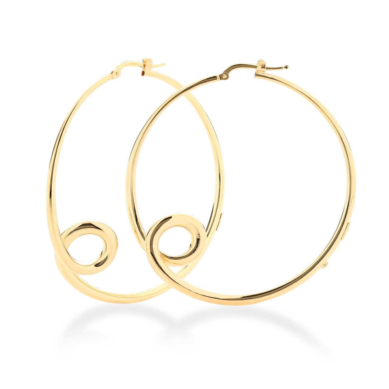 Roberto Coin Oro Classic 18K Yellow Gold Large Double Loop Hoop Earrings