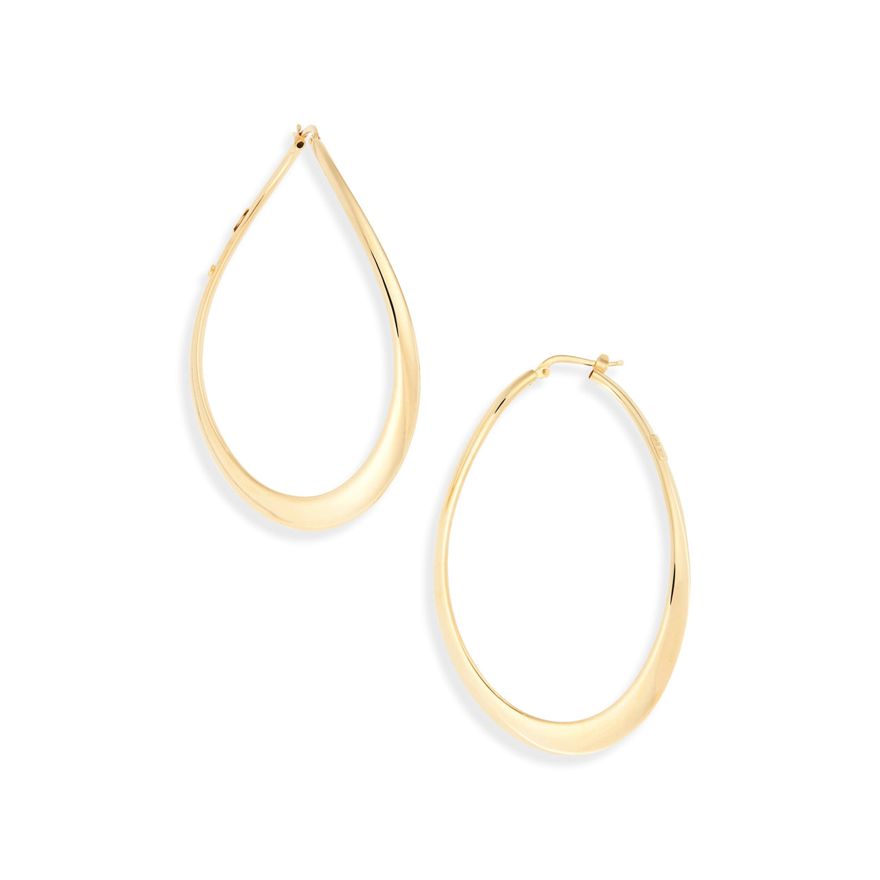 Roberto Coin Oro Classic 18K Yellow Gold Large Hoop Earrings