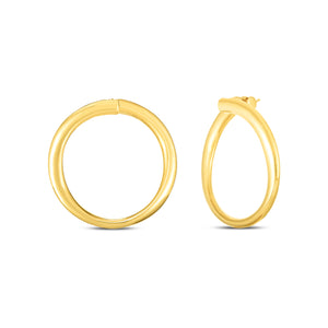 Roberto Coin Oro Classic 18K Yellow Gold Curved Hoop Earrings